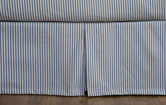 Ticking Stripe Bed Skirt Black Brown Grey Navy Red Ticking Stripe Bedding Striped Bedding Bedskirt