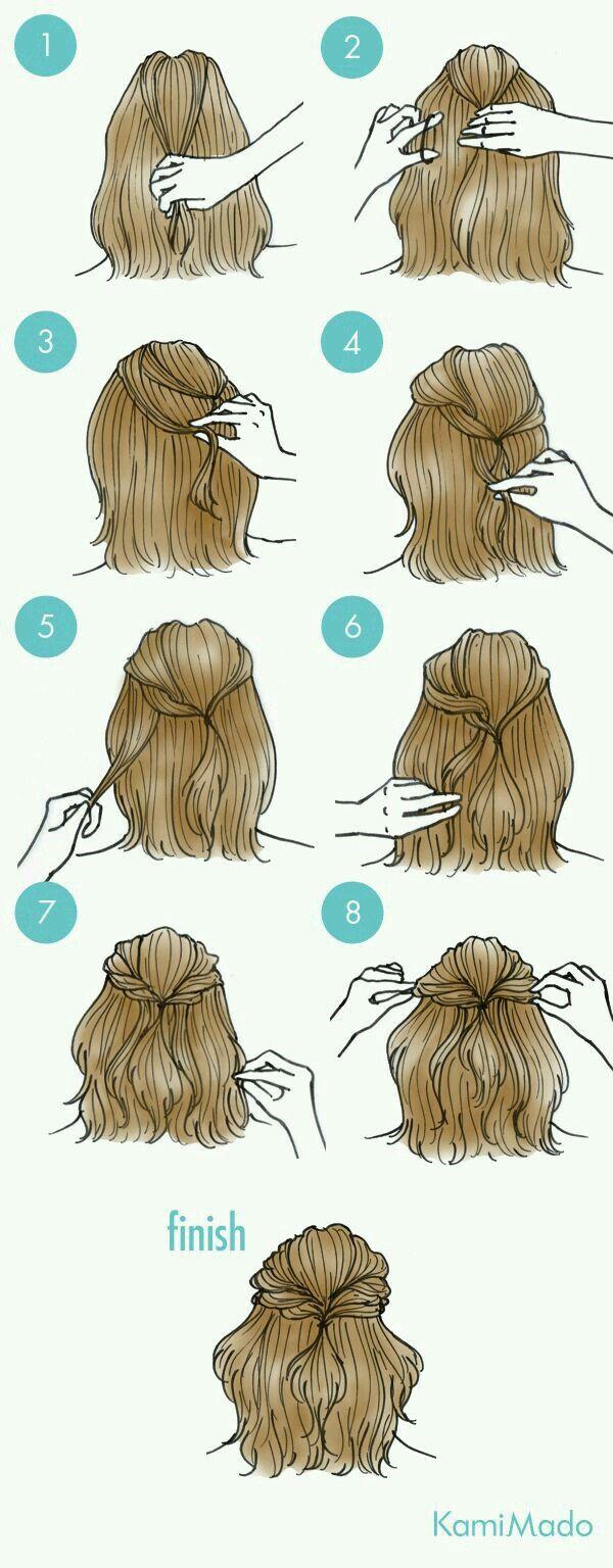 Half Back W Twists Frisur Ideen Frisuren Lange Haare Dutt Frisuren
