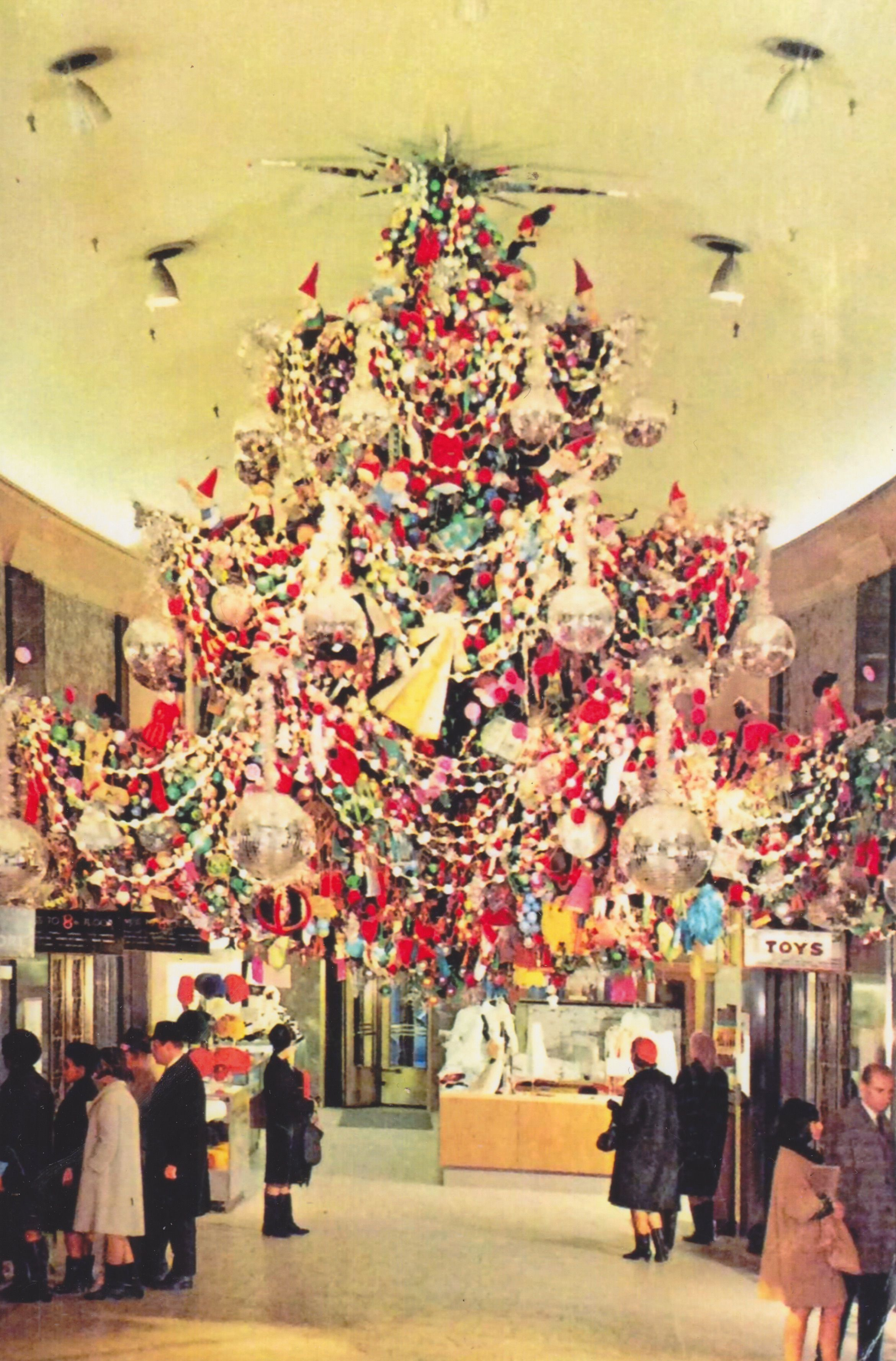 A Company Postcard Depicts The Revolving Christmas Tree In The