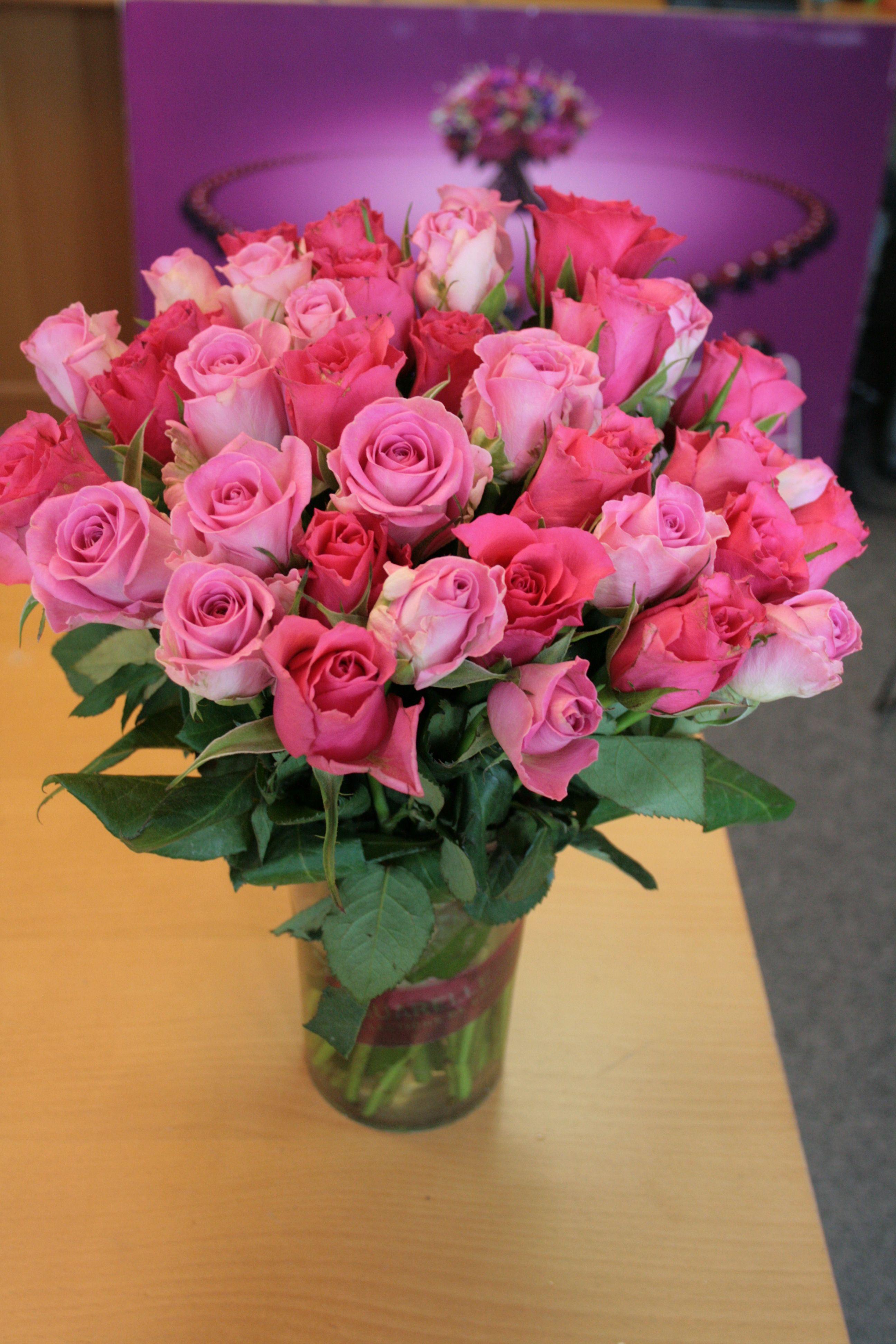 Un Joli Bouquet De Roses Tout En Tendresse Aquarelle Com Rosas