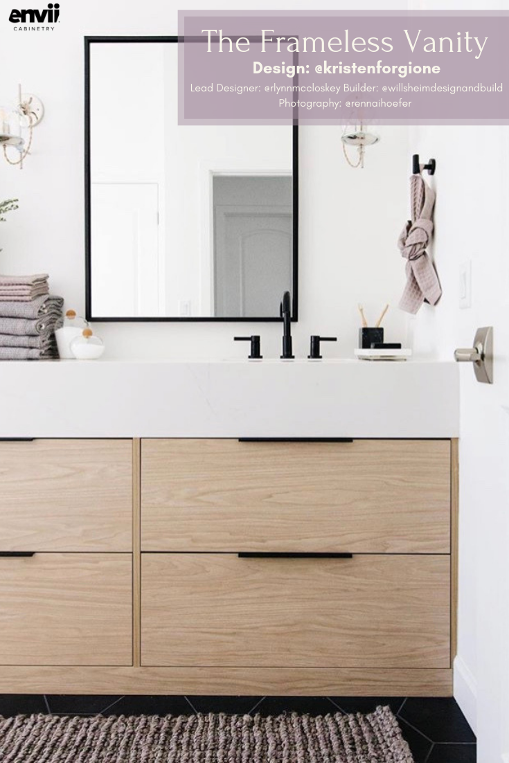 Repost Kristenforgione Wood White Black Repeat Pjaneproj Lead Designer Rlynnmccloske Frameless Cabinets Cabinet Manufacturers Bathroom Inspiration