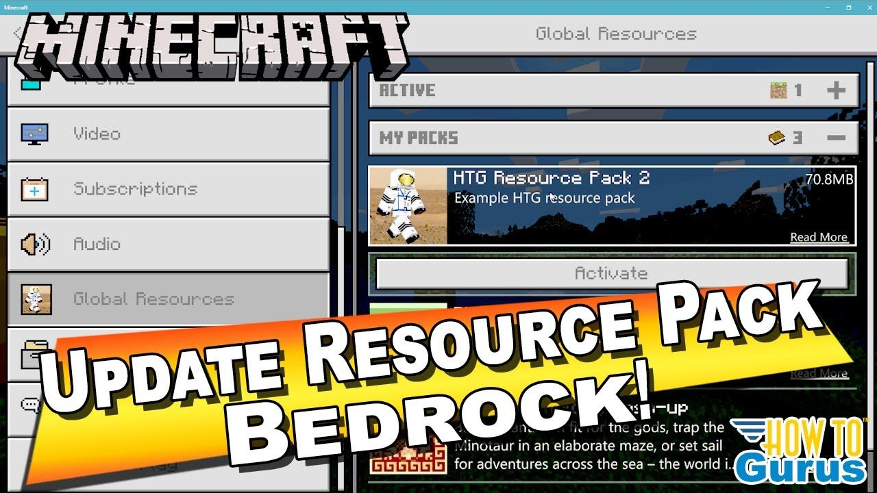 How to Update a Minecraft Bedrock Resource Pack in 2020