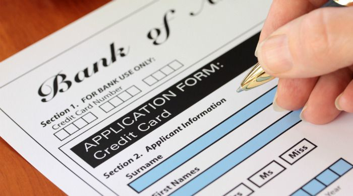 Various Reasons for Declination of Application for Credit Card - credit card form