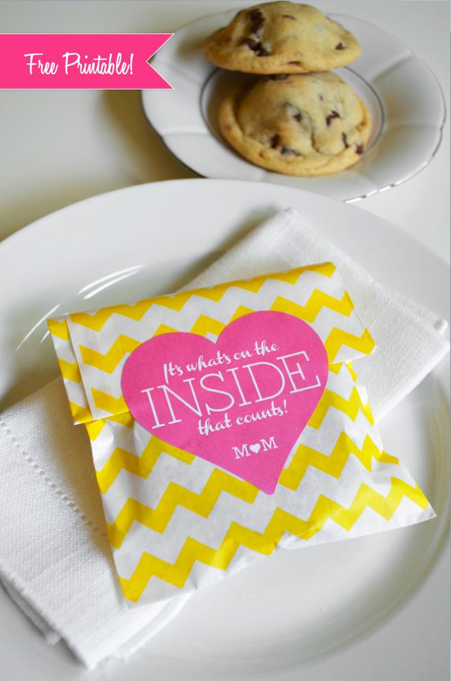 Edible Wedding Favors Stuffed Cookie Wedding Favor Free Printable