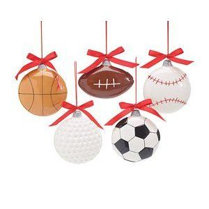 Sports Themed Christmas Ornaments