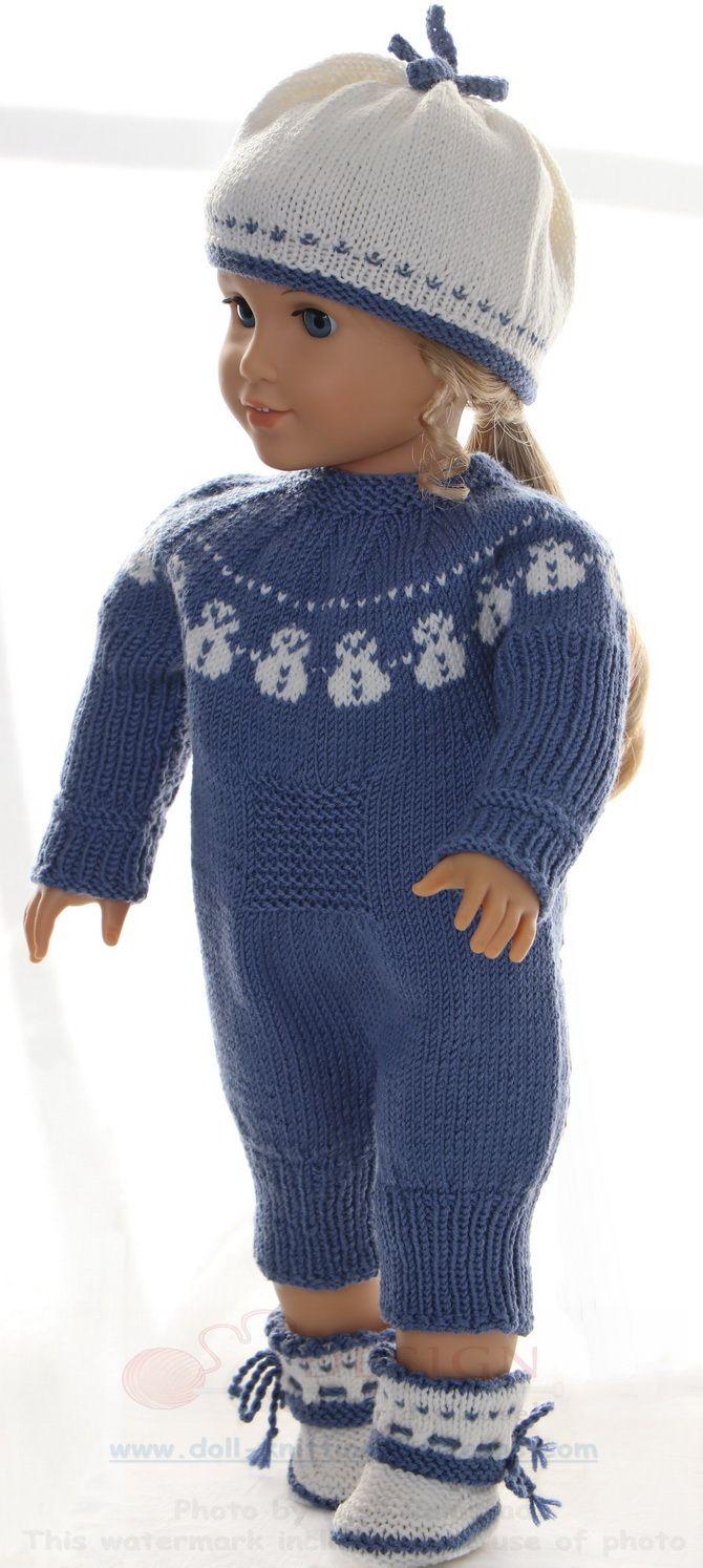Puppen stricken strickanleitung - Hübscher Puppenanzug mit einem ...