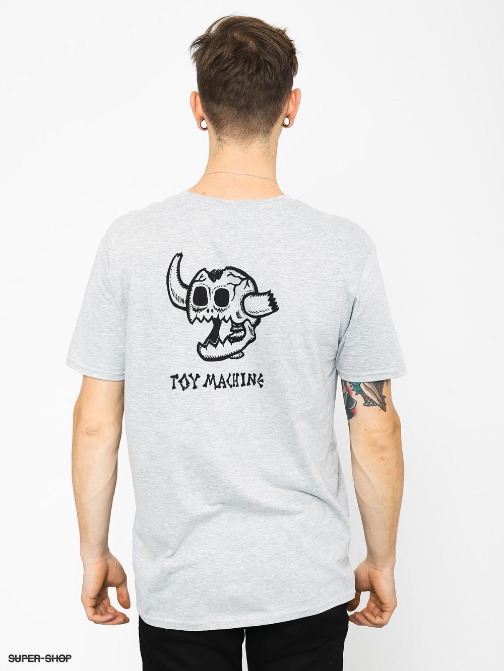 Toy Machine Monster Skull T Shirt Grey T Shirt Sweatshirts Hoodie Classic T Shirts [ 1333 x 1000 Pixel ]