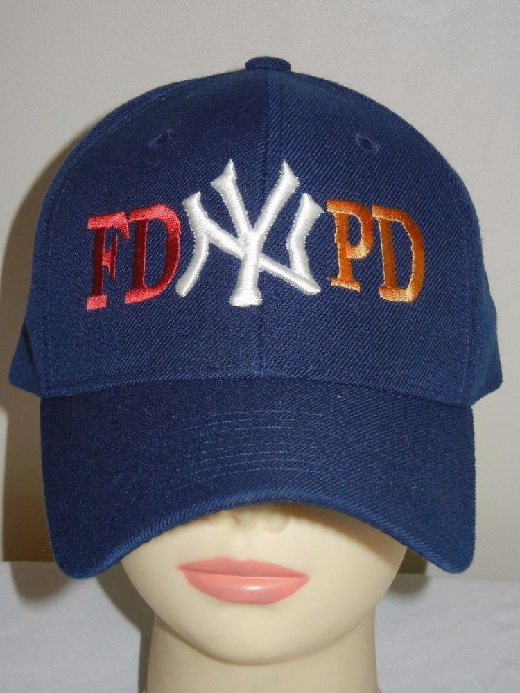 New York Yankees OSFA baseball hat cap NYPD FDNY fire police  Unbranded   NewYorkYankees bb0e5b09645