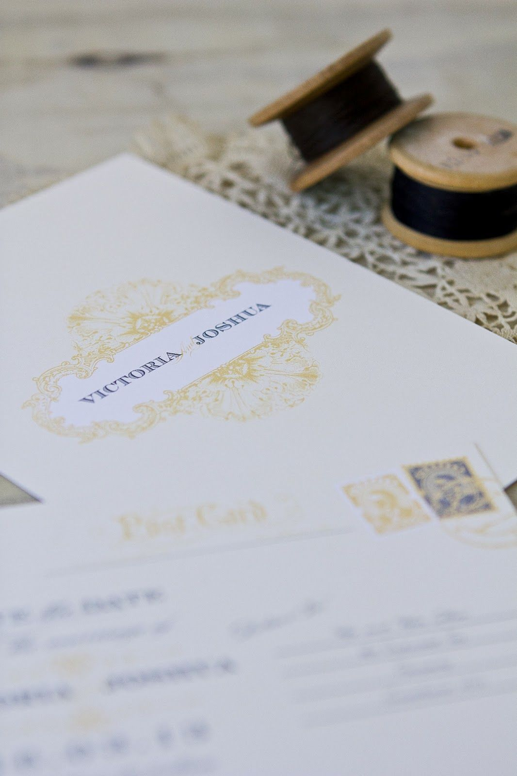 elegant antique wedding invitations www.cocoaberry.co.nz | Wedding ...