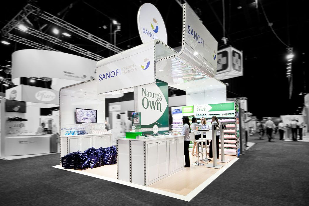 Exhibition Stand Medical : Sanofi exhibition stand designed and constructed by