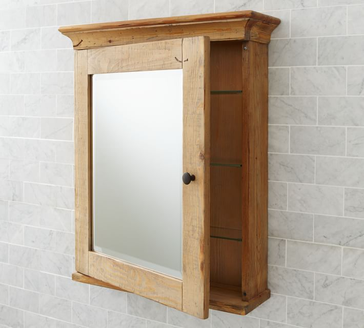 image result for reclaimed wood bathroom mirror cabinet | home