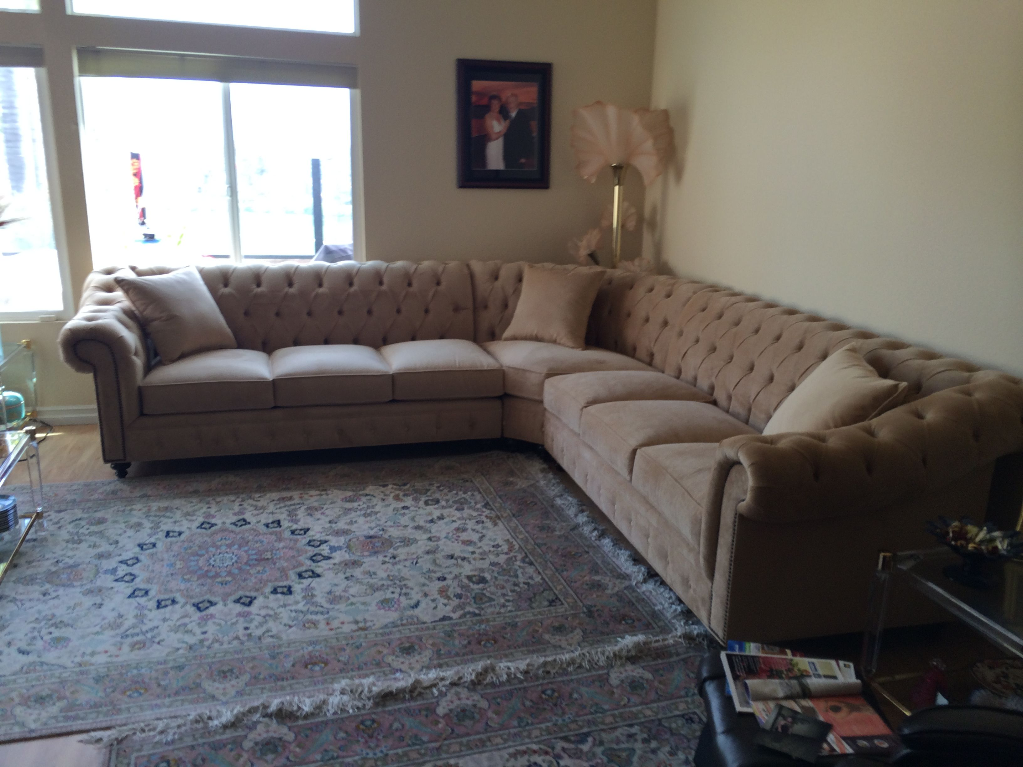 Kenzie style custom chesterfield sofa or sectional for Custom sectional sofa los angeles