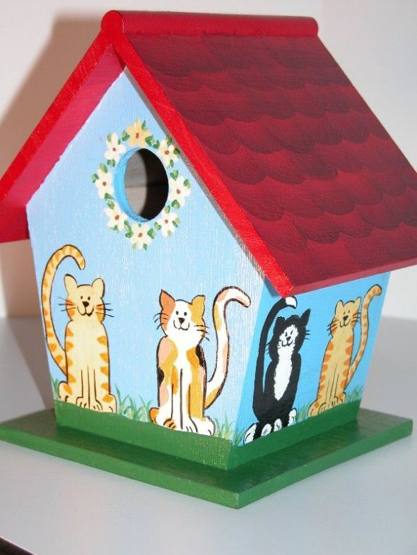 Birdhouse Design Ideas painted bird houses vines hand painted bird house by catherineklassen on etsy Painted Bird Houses Designs Ideas