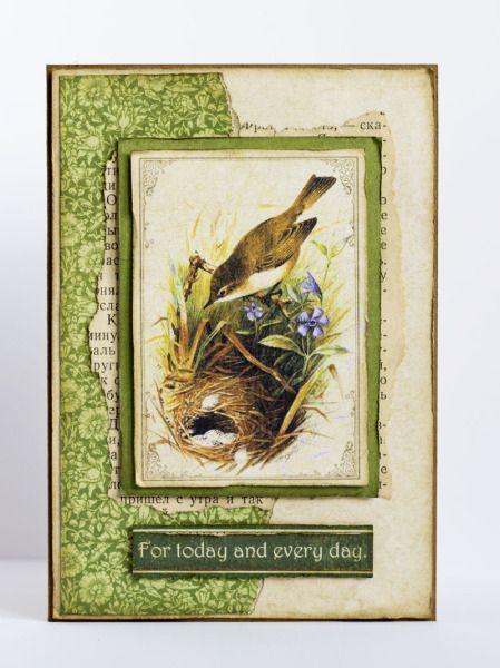 """Birds"" card by Nataliya Serova #graphic45 #cards"