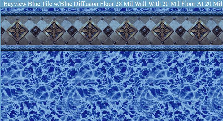 Bayview Blue Pool Liner Bayview Blue Tile Pool Liners Pool