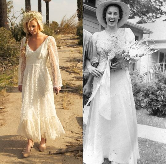8 Vintage Wedding Dress Styles Any Girl Can Wear | Rustic country ...