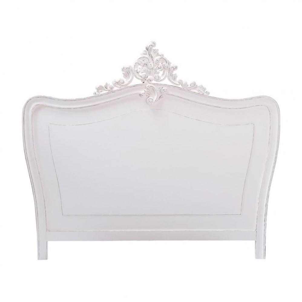 Testata da letto bianca in legno L 160 cm Comtesse