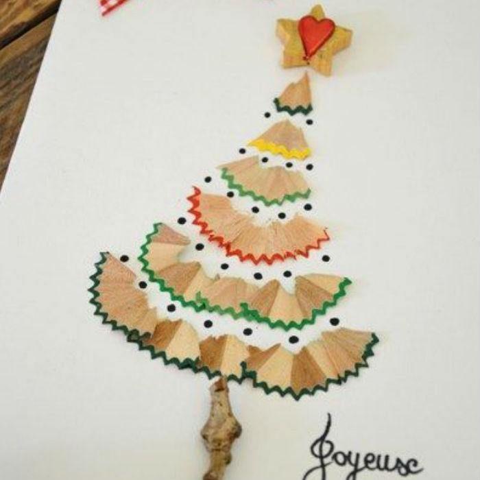 Resultado de imagen para tarjetas navide as con material for Materiales para manualidades navidenas