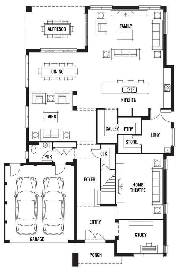 Plaza House Design 4 Bedroom House Plan Porter Davis House Plans House Design Floor Plans