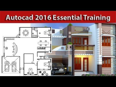 AutoCAD Architectural house 2d plan Tutorial For beginners ...
