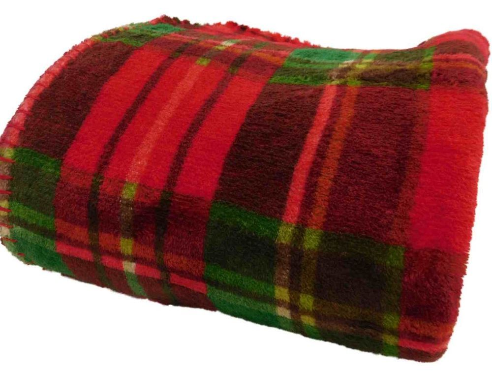 90d86856b2 Holiday Plush Super Soft Christmas Plaid Microplush Throw Blanket - 50x60   Holiday