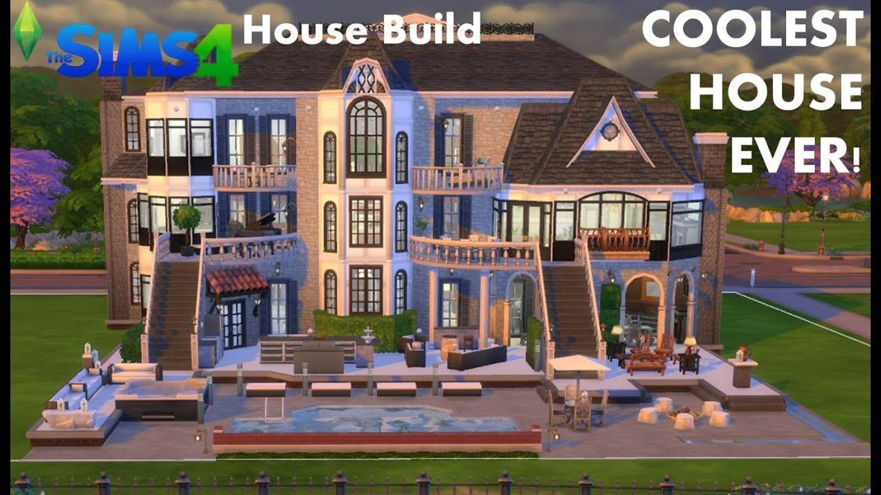 The Sims 4 House Build- Mansion- COOLEST HOUSE EVER TOUR ...