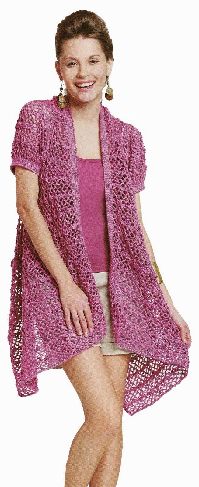 Tunica crochet de una sola pieza instrucciones - Patrones Crochet ...