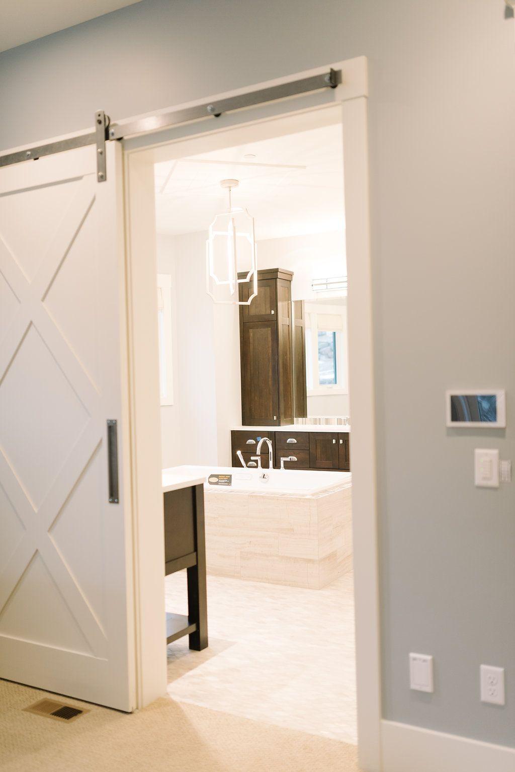 Master bedroom ensuite design  bathroom door  Master Bedroom  Pinterest  Barn doors Barn and Doors