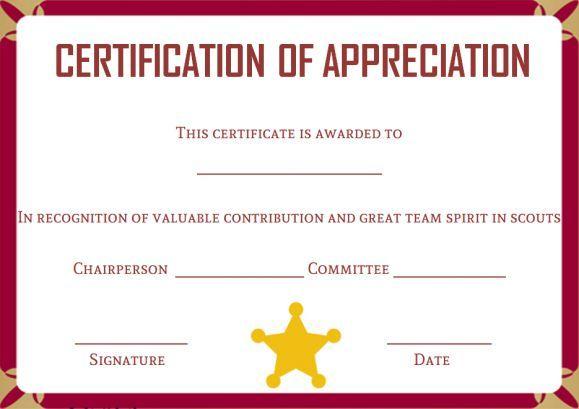 boy scout certificate template
