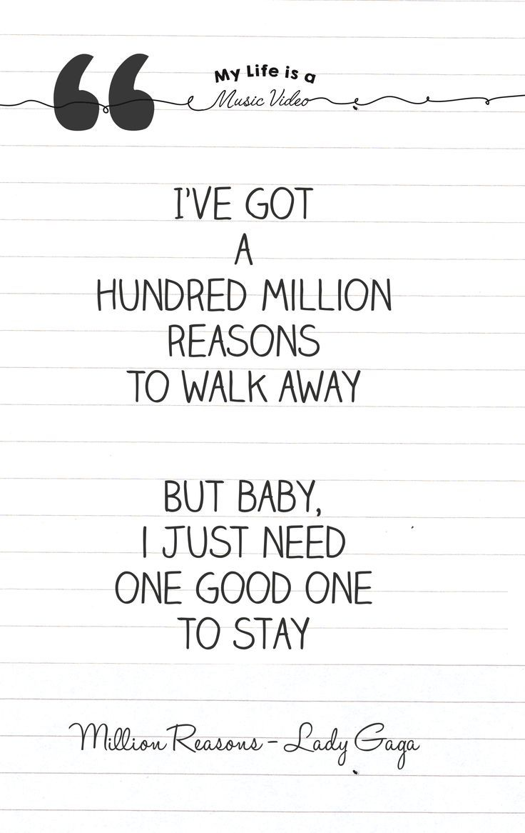 Million Reasons Lyric Quote Lady Gaga Millionreasons Ladygaga
