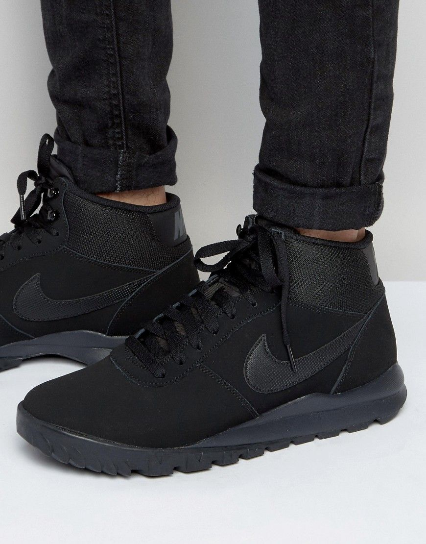 434f1f2b8 Image 1 of Nike Hoodland Suede Trainers In Black 654888-090 | Nike ...