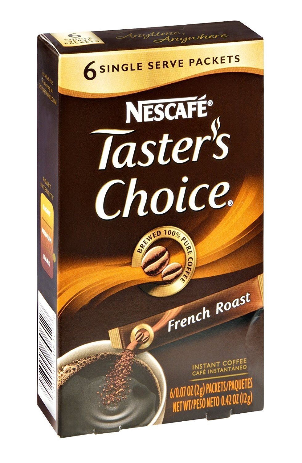 Nescafe Taster's Choice French Roast Instant Coffee , 0.42