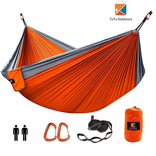 Double Camping Hammock Nylon Portable Hammock Best Parachute Double Hammock For Backpacking Camping Beach Travel Yard.