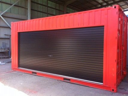 20ft Container roller access doors red Brisbane Moving Pinterest
