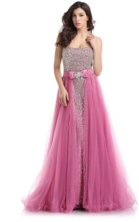 Rose Sequin Full Length Gown | Prom Dresses | Pinterest | Prom ...