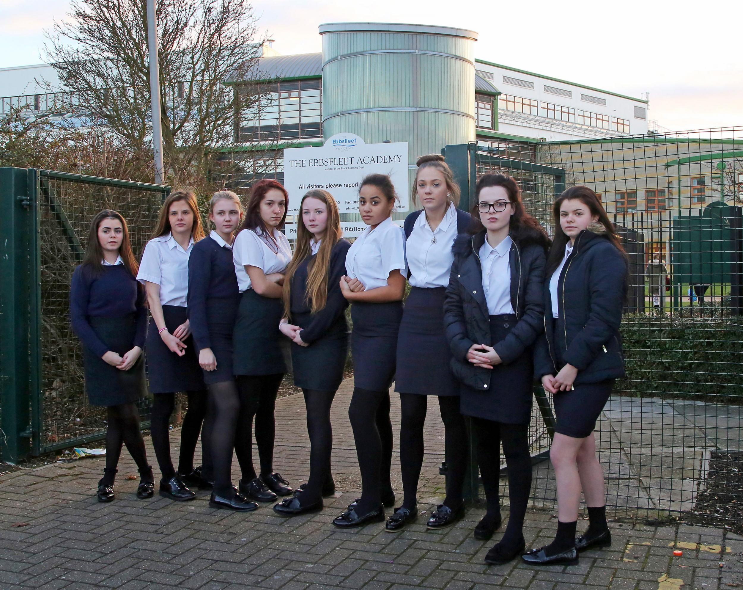 Parents furious after Ebbsfleet Academy headteacher sends schoolgirls home for skirts '5cm above the knee' - Evening Standard