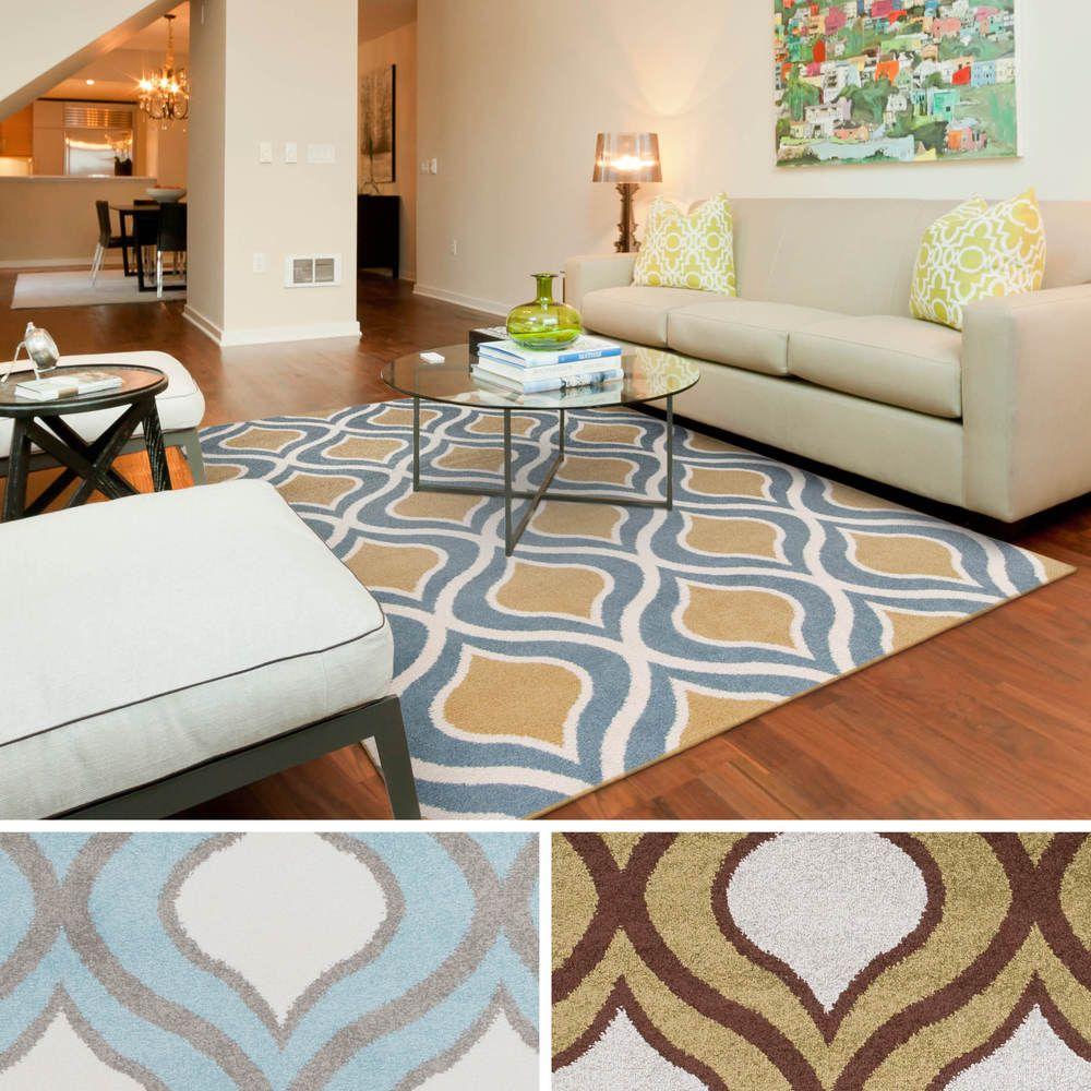"meticulously woven jackson modern geometric area rug (5'3"" x 7'3"