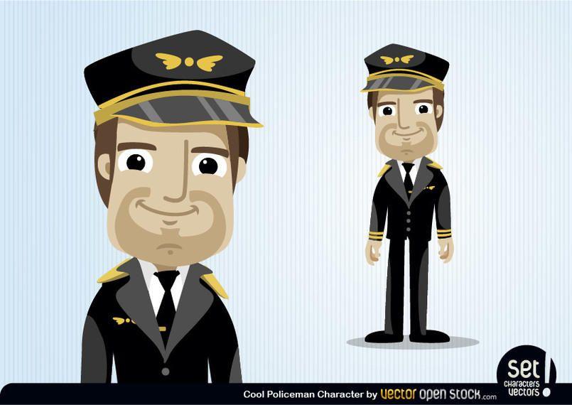 Pilot Cartoon Character AD , AFFILIATE, AD, Character