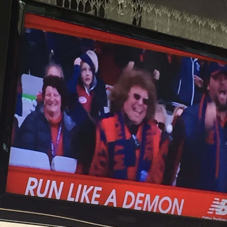 MELBOURNE DEMONS AFL New Balance 'run like a demon' odd