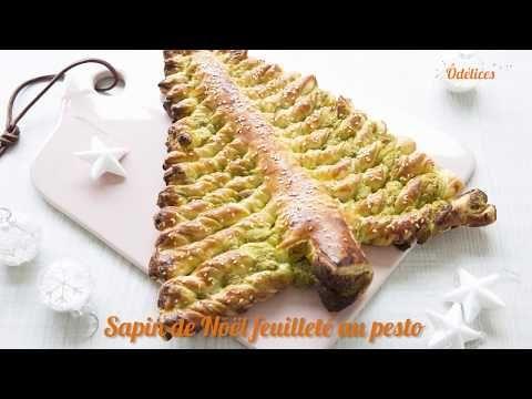 Sapin de Noël feuilleté au pesto - recettes faciles Odelices