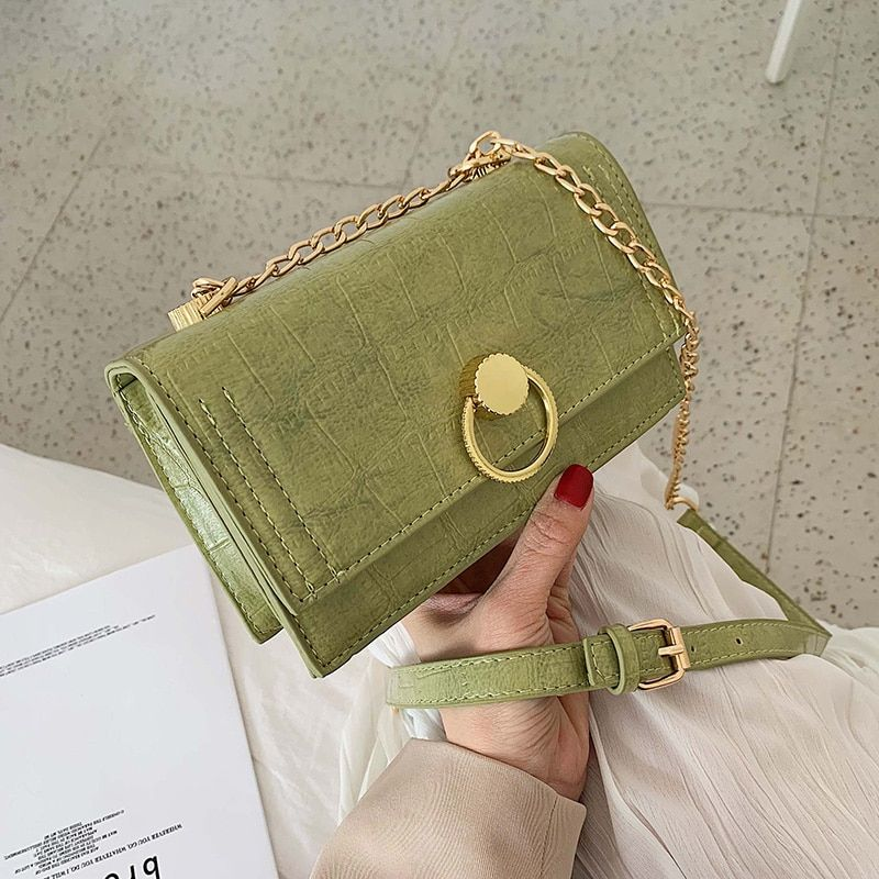 Green Stone Pattern Matcha Crossbody Bags Women 2019 Small Chain Bags Small Purse PU Leather Bag Ladies Hand Bag Shoulder Bags en Bolsas de hombro de Bolsos y maletas en AliExpress.com El | Grupo Alibaba