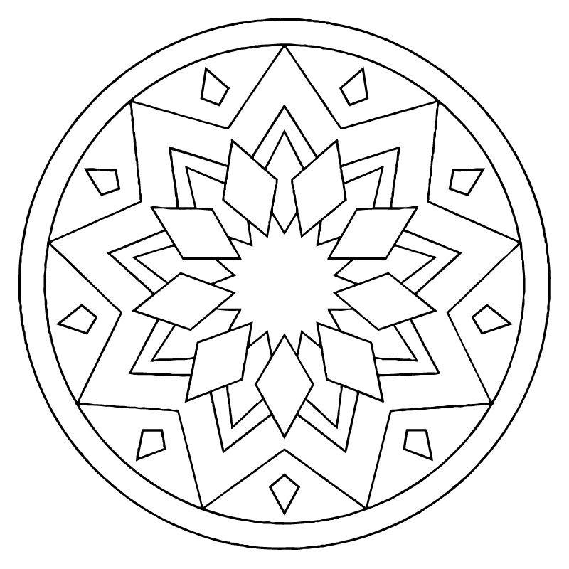 Mandalas | Mosaico | Pinterest | Mandalas, Pintar y Molde