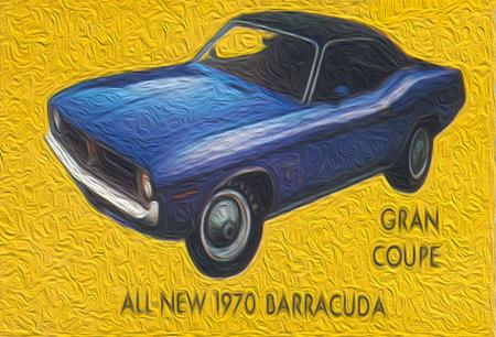 1970 Plymouth Barracuda 6x4 Refrigerator / Tool Box Magnet, $5.95