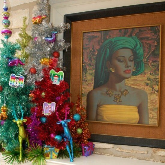 How to incorporate vintage kitsch into your modern home and holiday decor.