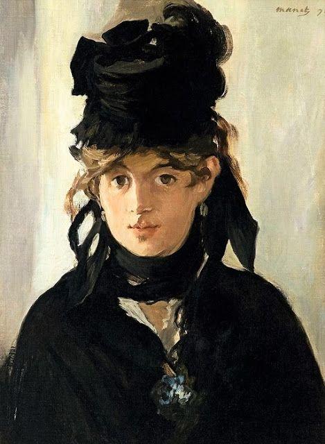 Retrato de Berthe Morisot por Edouard Manet