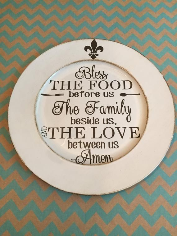 Bless The Food Charger Plate Inspirational Quotes Blessings Prayer MCustom Gifts Under 20 Great Hous