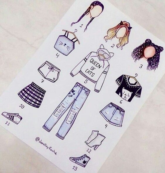 Pin by Jessica on Fashion Draws | Cute drawings, Drawing