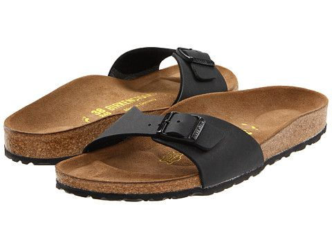 428e3d47cb25 Birkenstock Madrid Slip-On Black Birko-Flor - Zappos.com Free Shipping BOTH  Ways