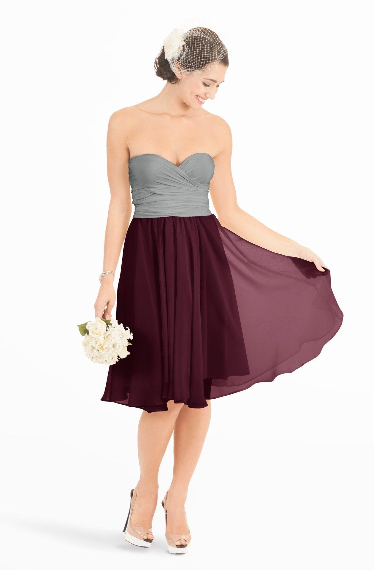 Hana burgundy wine midi chiffon overlay wedding colors burgundy