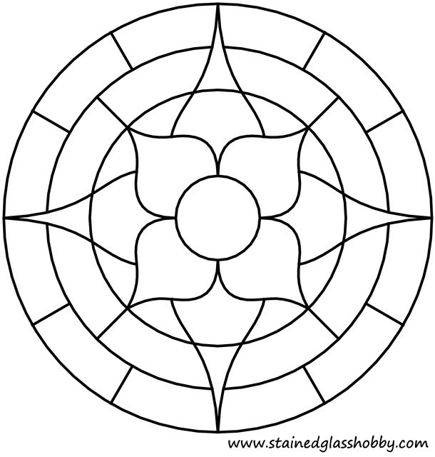 Flower round panel outline | Printables | Pinterest | Mandala ...